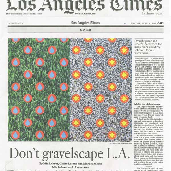 "MLA Op-Ed ""Don't gravelscape L.A."" featured in the LA Times"